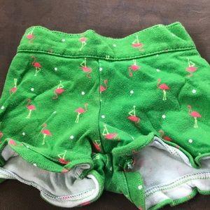 Girls flamingo shorts